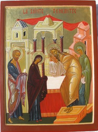 Icone la sainte rencontre presentation au temple
